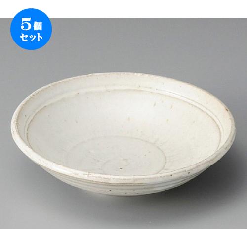 5個セット☆ 向付 ☆ 白釉6.0平鉢 [ 190 x 50mm ] 【料亭 旅館 和食器 飲食店 業務用 】