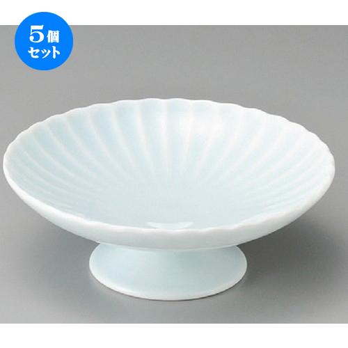 5個セット☆ 向付 ☆ 青白磁霞高台皿 [ 150 x 54mm ] 【料亭 旅館 和食器 飲食店 業務用 】