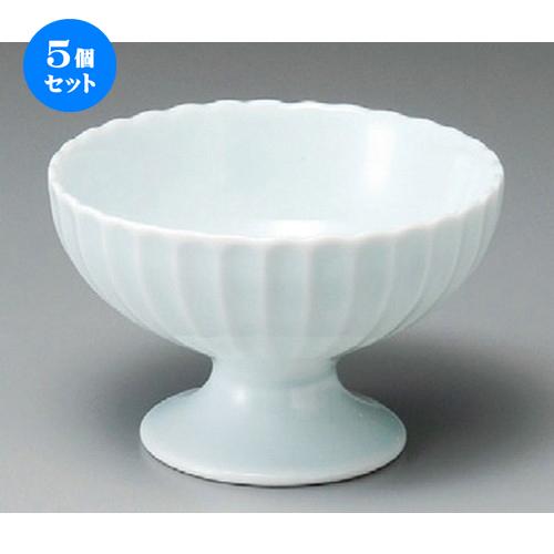 5個セット☆ 小鉢 ☆ かすみ 青白高台デザート碗 [ 120 x 77mm ] 【料亭 旅館 和食器 飲食店 業務用 】