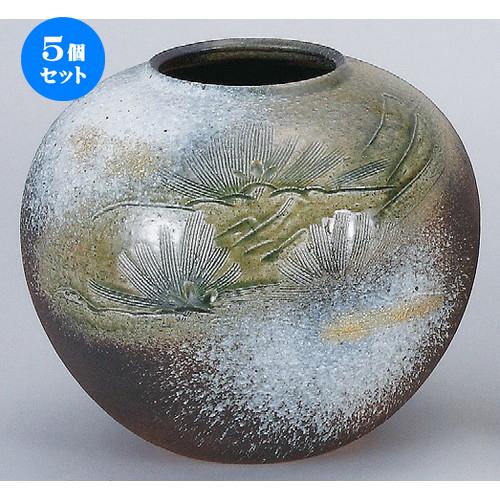 5個セット☆ 花器 ☆ 金彩松彫10号丸花瓶 [ 310 x 270mm ] 【インテリア 和室 華道 花瓶 】