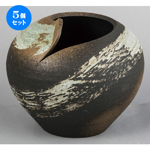 5個セット☆ 花器 ☆ 刷毛目花入 [ 370 x 310mm ] 【インテリア 和室 華道 花瓶 】