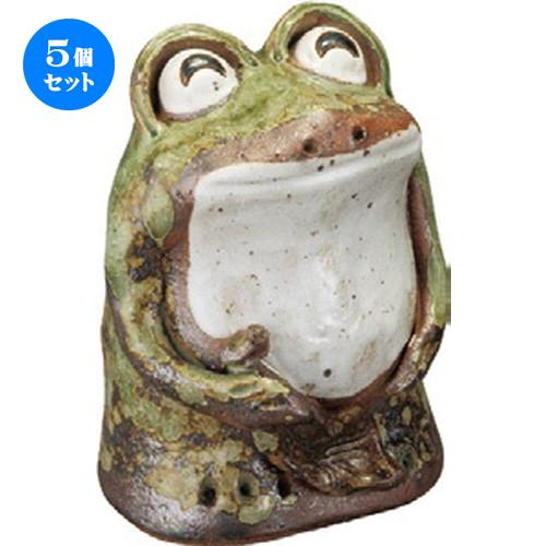 5個セット☆ 置物 ☆ わらい立ち蛙 (小) [ 125 x 170mm ] 【インテリア 置物 かわいい カエル 】