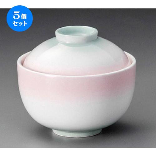 5個セット☆ 円菓子 ☆ 二色吹 玉形円菓子碗 [ 105 x 90mm ] 【料亭 旅館 和食器 飲食店 業務用 】