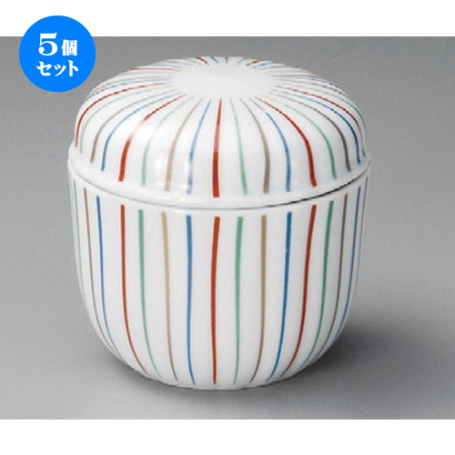 5個セット むし碗 / 十草夏目型むし碗 [ 80 x 80mm ] | 茶碗蒸し ちゃわんむし 蒸し器 寿司屋 碗 むし碗 食器 業務用 飲食店 おしゃれ かわいい ギフト プレゼント 引き出物 誕生日 贈り物 贈答品