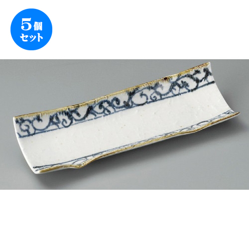 5個セット☆ 付出皿 ☆ 新タコ唐草(9.0寸)長皿 [ 285 x 95 x 45mm ] 【料亭 旅館 和食器 飲食店 業務用 】