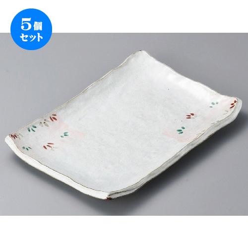 5個セット☆ 長角皿 ☆ 雪化粧長角14.0皿 [ 360 x 250 x 40mm ] 【料亭 旅館 和食器 飲食店 業務用 】