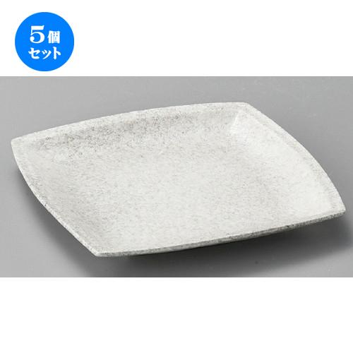 5個セット☆ 正角皿 ☆ ストーン四方皿(大) [ 224 x 224 x 25mm ] 【料亭 旅館 和食器 飲食店 業務用 】