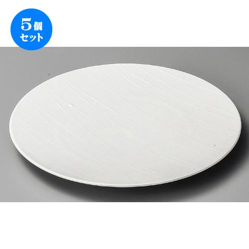 5個セット ☆ 大皿 ☆ アララギ白28cmディナー [ 282 x 27mm ] 【料亭 旅館 和食器 飲食店 業務用 】