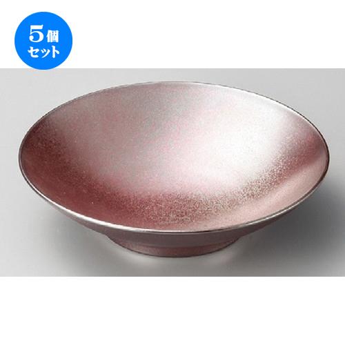 5個セット☆ 丸皿 ☆ 鉄結晶パスタボール [ 225 x 45mm ] 【料亭 旅館 和食器 飲食店 業務用 】