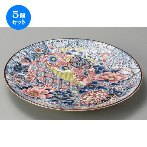 5個セット☆ 萬古焼大皿 ☆ 手まり牡丹10.0大皿 [ 320 x 35mm ] 【料亭 旅館 和食器 飲食店 業務用 】
