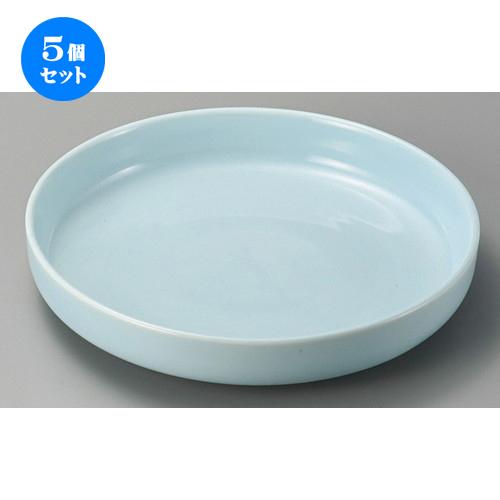 5個セット☆ 萬古焼大皿 ☆ 青磁10.0盛鉢 [ 310 x 60mm ] 【料亭 旅館 和食器 飲食店 業務用 】