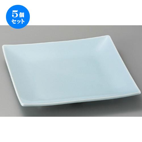 5個セット☆ 萬古焼大皿 ☆ 青磁10.0正角皿 [ 310 x 45mm ] 【料亭 旅館 和食器 飲食店 業務用 】