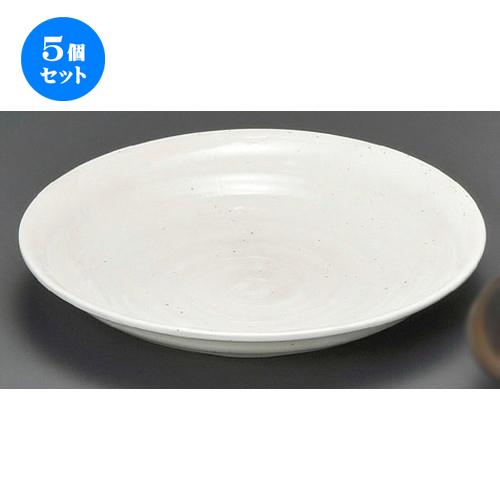 5個セット☆ 麺皿 ☆ そば白たたき8.0深丸皿 [ 240 x 45mm ] 【蕎麦屋 定食屋 和食器 飲食店 業務用 】
