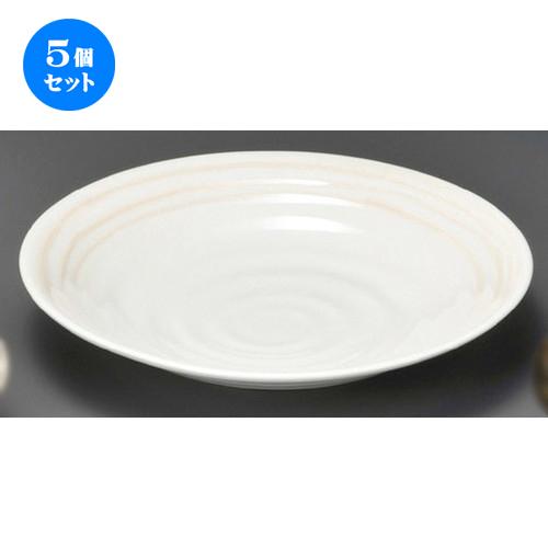5個セット☆ 麺皿 ☆ あかり8.5麺皿(大) [ 257 x 45mm ] 【蕎麦屋 定食屋 和食器 飲食店 業務用 】