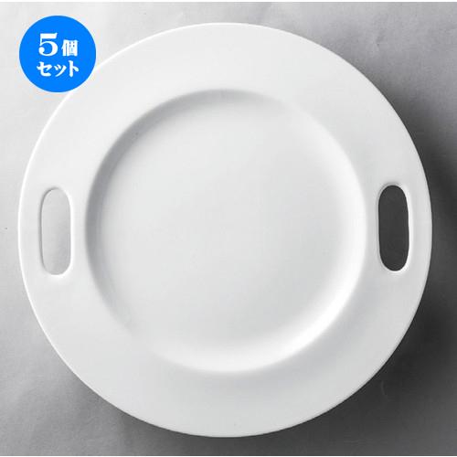 5個セット☆ 洋食器 ☆ 白30cm穴明プレート [ 300 x 25mm ] 【レストラン ホテル 飲食店 洋食器 業務用 】
