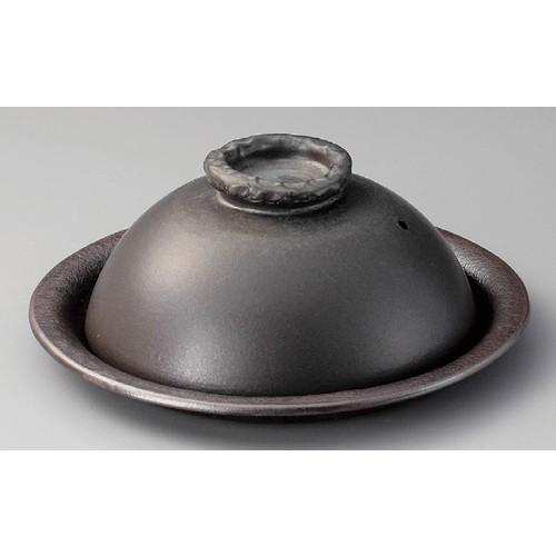 ☆ 信楽焼陶板 ☆ 黒釉10.0陶板 [ 300 x 125mm ] 【料亭 旅館 和食器 飲食店 業務用 】