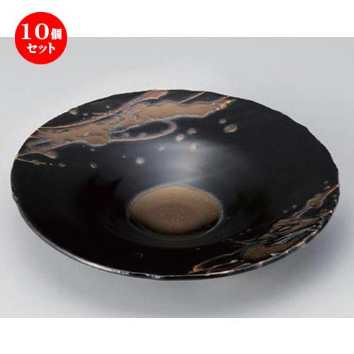 10個セット☆ 向付 ☆ゴールド線模様6寸皿 [ 21.3 x 3.3cm 500g ] 【 料亭 旅館 和食器 飲食店 業務用 】