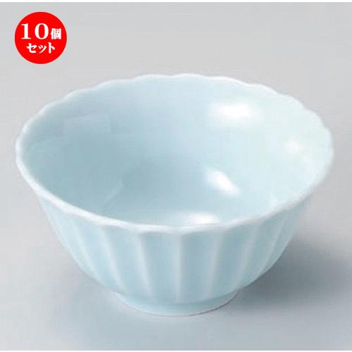 10個セット☆ 組小鉢 ☆カスミ (青白) 12.5cmボール [ 12.6 x 6.1cm 222g ] 【 料亭 旅館 和食器 飲食店 業務用 】