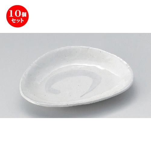 10個セット☆ 変形皿 ☆アジアン粉引三角皿 (大) [ 19 x 15.5 x 3cm 300g ] 【 料亭 旅館 和食器 飲食店 業務用 】