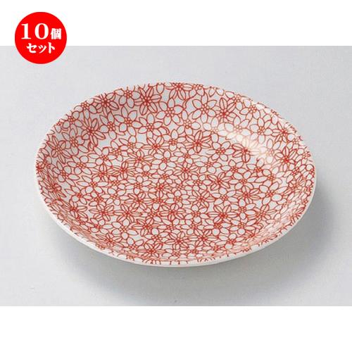10個セット ☆ 組小皿 ☆赤小紋5.5皿 [ 16.5 x 2.6cm 236g ] 【 料亭 旅館 和食器 飲食店 業務用 】