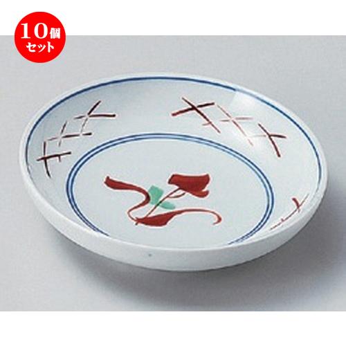 10個セット☆ 小皿 ☆赤絵花筋3.0皿 [ 9.3 x 2.3cm 89g ] 【 料亭 旅館 和食器 飲食店 業務用 】