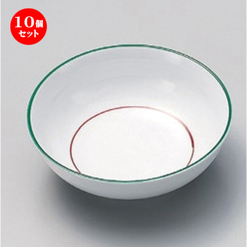 10個セット☆ 松花堂 ☆緑彩丸型小鉢 [ 11.5 x 4cm 156g ] [ 料亭 旅館 和食器 飲食店 業務用 ]