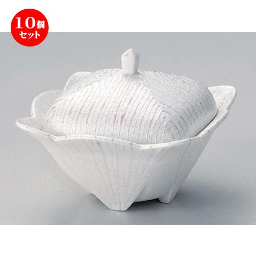 10個セット☆ 煮物碗 ☆パールライン角蓋物 [ 12 x 9cm 300g ] [ 料亭 旅館 和食器 飲食店 業務用 ]