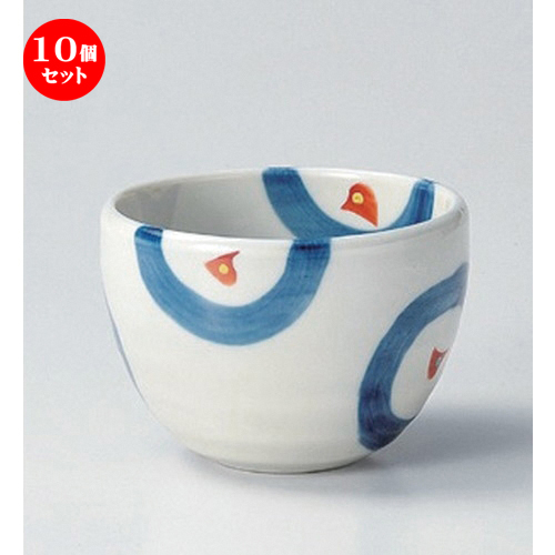 10個セット☆ 多用碗 ☆上絵丸紋姫丼 [ 11 x 7.7cm 250g ] 【 料亭 旅館 和食器 飲食店 業務用 】