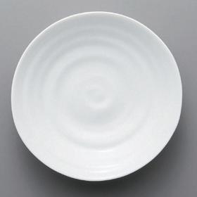10個セット☆ ボーダーレススタイル ☆白磁波16cm和皿 [ 16.3 x 3.6cm 230g ] [ ホテル レストラン 洋食器 飲食店 業務用 ]