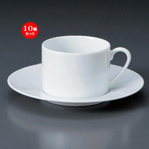 10個セット☆ コーヒーカップ ☆WYワイドリム切立ティーC/S [ 10.4 x 8 x 5.6cm 200cc ・ 16 x 2cm ・ 329g ] [ カフェ レストラン 洋食器 飲食店 業務用 ]