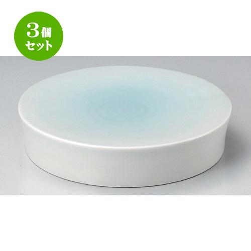 3個セット☆ 丸皿 ☆青白磁8寸水面皿 [ 24 x 5.1cm 1520g ] 【 料亭 旅館 和食器 飲食店 業務用 】