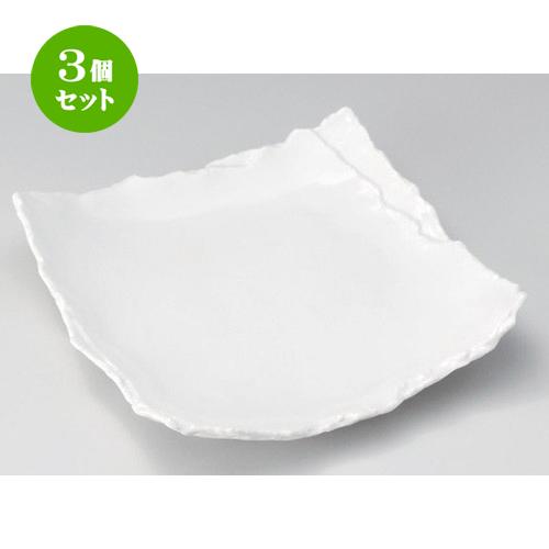 3個セット☆ 角皿 ☆白マット重ね8.5角皿 [ 25.6 x 25 x 5.5cm 910g ] 【 料亭 旅館 和食器 飲食店 業務用 】
