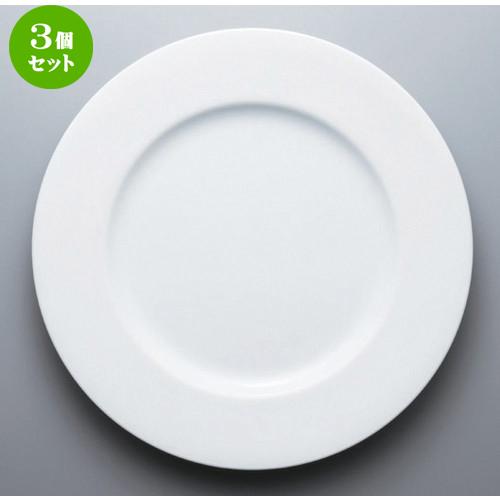 3個セット☆ ボーダーレススタイル ☆12吋ビスクプレート (YUW) [ 30.5 x 3.1cm 932g ] 【 ホテル レストラン 洋食器 飲食店 業務用 おしゃれ 】