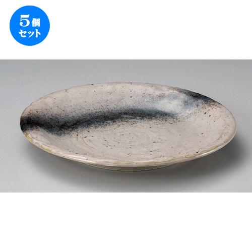 5個セット☆ 丸皿 ☆銀河石目9.0皿 [ 27.8 x 3.6cm 450g ] 【 料亭 旅館 和食器 飲食店 業務用 】