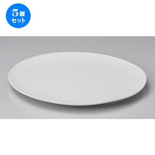 5個セット☆ 丸皿 ☆白吹22cmフラットプレート [ 22.2 x 1.5cm 410g ] [ 料亭 旅館 和食器 飲食店 業務用 ]