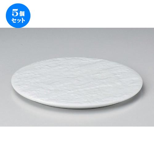 5個セット☆ 丸皿 ☆白磁雲海丸24cm皿 [ 24 x 1.2cm 841g ] [ 料亭 旅館 和食器 飲食店 業務用 ]