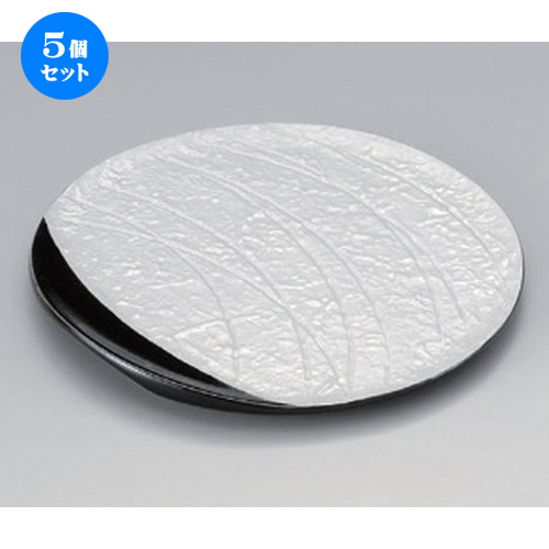 5個セット☆ フルーツ皿 ☆銀彩名月6.0皿 [ 17.6 x 1.1cm 290g ] 【 料亭 旅館 和食器 飲食店 業務用 】