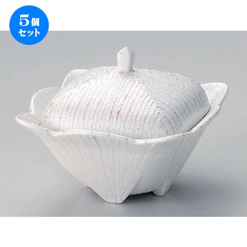 5個セット☆ 煮物碗 ☆パールライン角蓋物 [ 12 x 9cm 300g ] [ 料亭 旅館 和食器 飲食店 業務用 ]