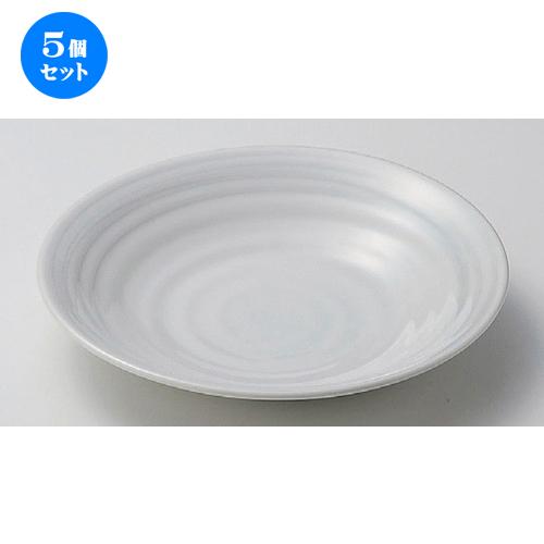 5個セット☆ 麺皿 ☆ほのか8.5皿 [ 25.7 x 4.5cm 708g ] [ 蕎麦屋 旅館 和食器 飲食店 業務用 麺処 ソバ そば ]