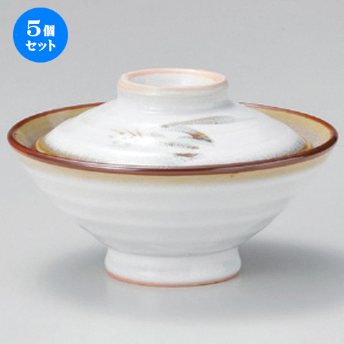 5個セット☆ 大茶 ☆白天目麦ノリ茶 [ 15.5 x 10cm 577g ] 【 料亭 旅館 和食器 飲食店 業務用 】
