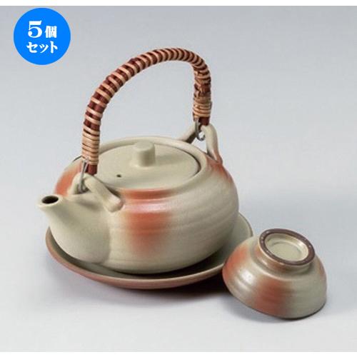 5個セット☆ 土瓶むし ☆白吹き丸形土瓶むし [ 13.8 x 11 x 6cm (320cc) 400g ] 【 料亭 旅館 和食器 飲食店 業務用 】