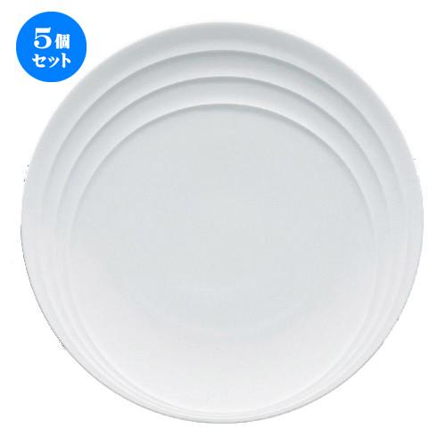 5個セット☆ ボーダーレススタイル ☆レステ27cmディナー [ 27.1 x 3cm 756g ] 【 ホテル レストラン 洋食器 飲食店 業務用 】