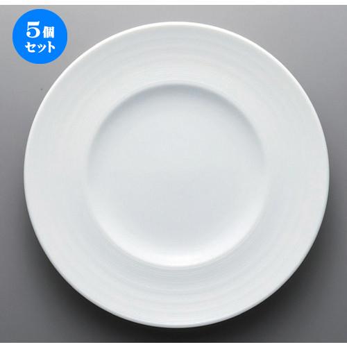 5個セット ☆ ボーダーレススタイル ☆グラシアビスク27cmディナー [ 27.1 x 3.3cm 764g ] 【 ホテル レストラン 洋食器 飲食店 業務用 】