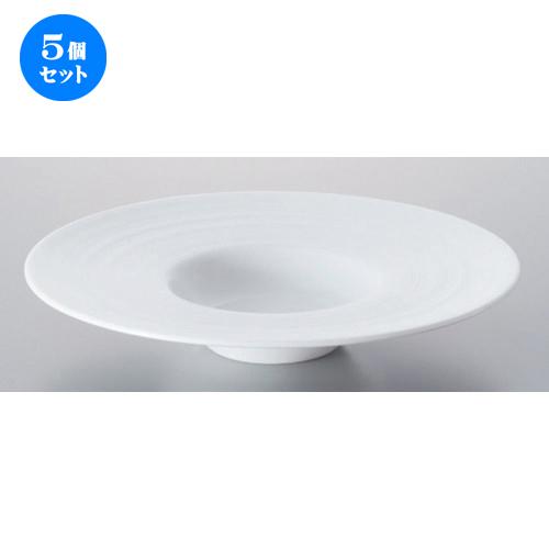 5個セット ☆ ボーダーレススタイル ☆グラシアビスク24cm平型スープ [ 23.1 x 4.4cm 618g ] 【 ホテル レストラン 洋食器 飲食店 業務用 】