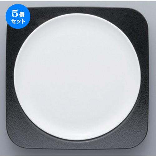 5個セット☆ ボーダーレススタイル ☆白磁丸皿セット [ 22 x 22 x 3cm 380g ] 【 ホテル レストラン 洋食器 飲食店 業務用 】