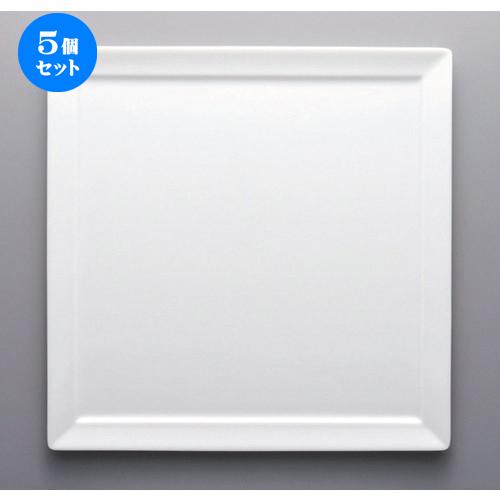 5個セット☆ ボーダーレススタイル ☆白磁30cmオードブル [ 30 x 1.4cm 1093g ] 【 ホテル レストラン 洋食器 飲食店 業務用 】