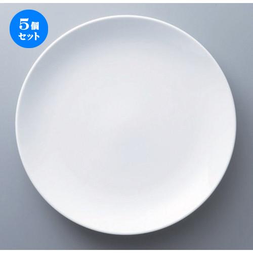 5個セット☆ ボーダーレススタイル ☆ウェイリー25cmクープ皿 [ 25.2 x 2.9cm 495g ] 【 ホテル レストラン 洋食器 飲食店 業務用 】