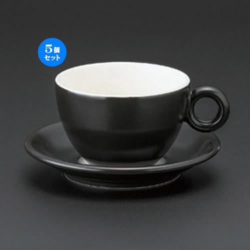 5個セット☆ コーヒーカップ ☆ブリオ (ブラック) カプチーノC/S [ 12.1 x 9.4 x 6.1cm (225cc) 14 x 2.3cm 382g ]   コーヒー カップ ティー 紅茶 喫茶 人気 おすすめ 食器 洋食器 業務用 飲食店 カフェ うつわ 器 おしゃれ かわいい ギフト プレゼント 誕生日 贈答品