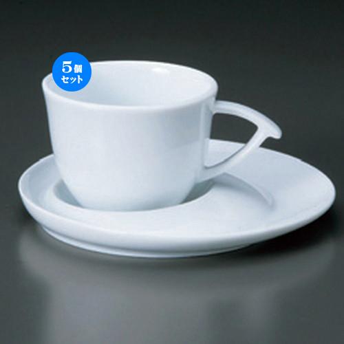 5個セット☆ コーヒーカップ ☆白磁ブルームC/S [ 11 x 8 x 6cm 160cc ・ 15 x 1.5cm ・ 375g ] 【 カフェ レストラン 洋食器 飲食店 業務用 】