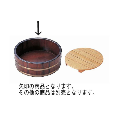 盛器 盛桶茶木目尺3寸本体 [39φ x 7.5cm] 木製品 (7-723-17) 【料亭 旅館 和食器 飲食店 業務用】